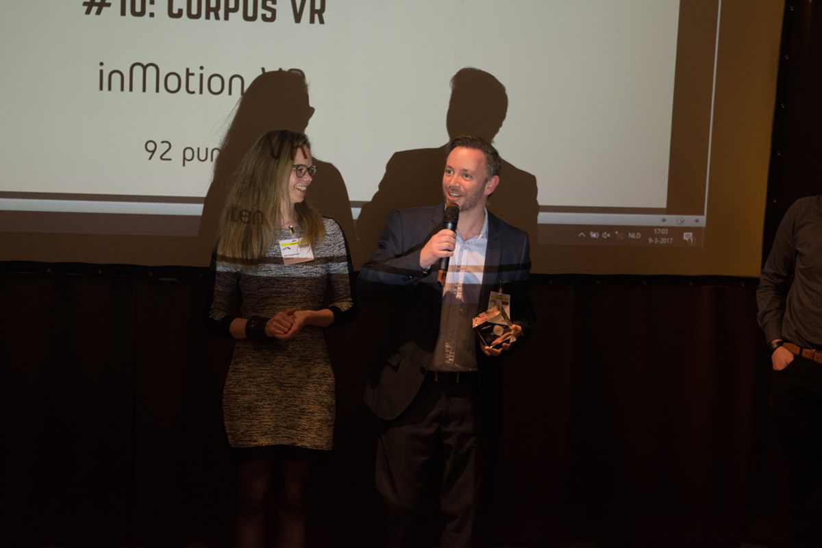 Dutch VR Awards 2017 winnaar Corpus VR door  inMotion VR